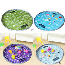 Portable Baby Kids Play Mat and Toys Large Storage Bags Toys Organizer Rug Mat