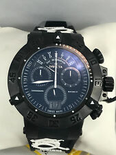Men's Invicta 10188 Subaqua Noma III Black Silicone Black Chronograph Dial Watch
