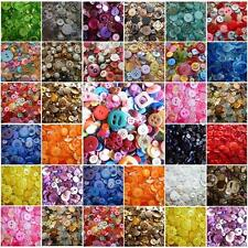 Mixed Buttons Colors Assorted Shapes Sizes Art Craft Sewing Card Scrapbook Make