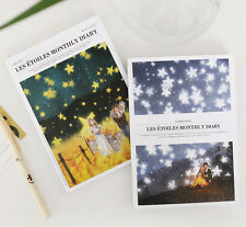 Les étoiles Monthly Diary Planner Scheduler Journal Agenda Schedule Book Note