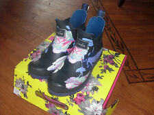 BNWT LADIES JOULES FRENCH NAVY BEAU BLOOM WELLIBOBS WELLY BOOTS SIZE 4,5 or 6.