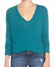 Standard James Perse NEW Teal Green Women's Size 4 U-Neck Knit Top $135 #337