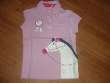 BNWT GIRLS JOULES JNR MOXIE 1ST IN SHOW PONY SUMMER POLO TOP SHIRT AGE 3-4 YRS.