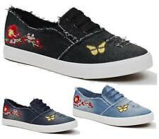 WOMENS TRAINERS LADIES PUMPS FLATS LACE UP SKATER CANVAS CASUAL HOLIDAY SHOES