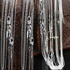 "Bulks Lots 1MM-2MM Snake Chain 925 Silver Plated Necklace Chain 16""18""20""22""24"""
