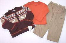 NWT b.t. kids Boy's 3 Pc. Reindeer Sweater Holiday Outfit Set, 2T, $46