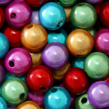 MIRACLE BEADS 4MM 6MM 8MM ROUND CRAFT SPACER BEAD 45 COLORS CHOICE