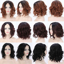 Synthetic Hair Lace Front Wig Ombre Wig For Halloween Costume Curly Straight BOB