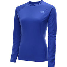 the north face women's warm baselayer shirt blue anti odor flashdry crew neck