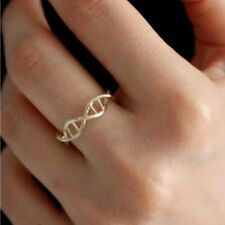 DNA Shape Ring For Women Vintage Chemistry Ring Molecule Friend Gifts
