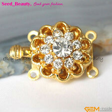 2 Strands Yellow Gold Plated ZIRON Crystal Clasp