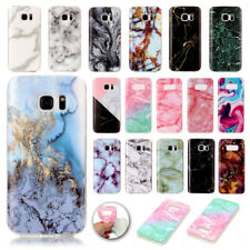 Marble Pattern Case TPU Rubber Silicone Soft Cover Skin For Samsung Galaxy Phone