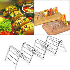 2-5 Slot Wave Shape Taco Holder Stainless Steel Mexican Display Stand Shell Rack