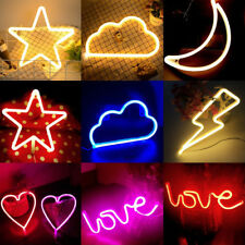 Christmas Party Prop Love Lightning Cloud Star LED Neon Sign Lights Home Decor