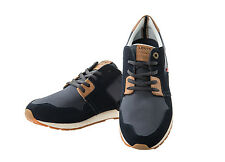 Levis Men Sneakers NY Runner II, Low shoes Textile Leather insert - Navy Blue