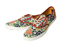 Levis Women's Sneakers Palmdale Lace Up Low Shoes Textile Floral Pattern - White