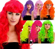 Foxy Wigs Ladies Long Curly Wig With Fringe Fancy Dress Accessory