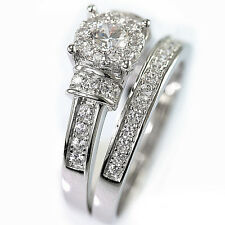 925 Sterling Silver Cubic Zirconia Channel Setting Bridal Engagement Band Ring