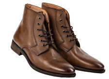 Replay Men's Leather Shoes, Men Craig Ankle Boots Size 41-46 - Brown