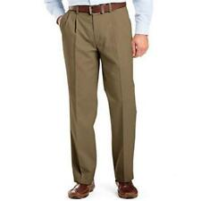 NEW MENS DOCKERS CLASSIC FIT PLEATED FRONT BROWN DRESS PANTS 42 X 32 476990015