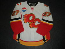 2008-09 Brett Sutter Quad City Flames Game Used Worn AHL Hockey Jersey!