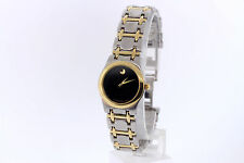 Ladies Movado 81-E4-9825 Museum Two-tone Stainless Steel Black Dial Watch