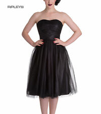 HELL BUNNY Strapless Party Prom Dress TAMARA Net   Black All Sizes