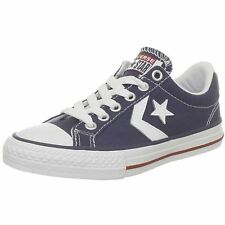 Converse Star Player Ev Ox Navy White Youth Canvas Low-profile Lace-up Trainers