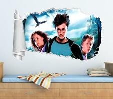 Harry Potter Ron Hermione 3D Torn Hole Ripped Wall Sticker Decal Decor Art WT112