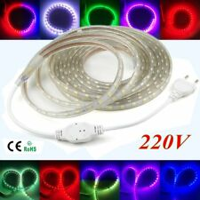 220V 230V 1M-20M Waterproof SMD 5050 LED Strip 60LEDS/M Flexible LED tape Light