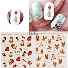 4 Color 3D Design Christmas Pattern Transfer Decal Nail Sticker Nail Art Tips LE