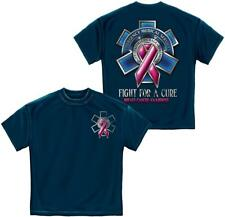 """EMS """"Fight For A Cure"""" Breast Cancer Awareness T-shirt by Erazor Bits, Blue"""
