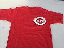 CINCINNATI REDS~Majestic Authentic MLB T-Shirt-COTTON~YOUTH-Size SMALL-NWOT