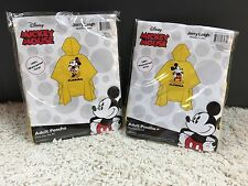 Disney Official Mickey Minnie Matching Couple Rain Ponchos NEW Men Women  #30