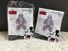 Lot 2 Walt Disney World Boy Girl Rain Ponchos  Youth Mickey Body NEW #30 Kids