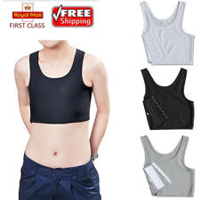 Lesbian Short Chest Breast Corset Breathable Buckle Binder Trans Tomboy Cosplay