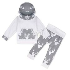2PC Baby Boys Clothes Outfit Kids Hooded Sweater + Pants Clothing Autumn/Summer