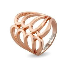Cool 18K Rose Gold GP Hollow  Cocktail Party without Crystal Fashion Ring 629