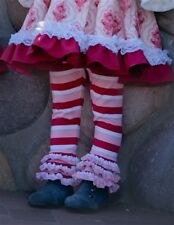 NWT Persnickety Holiday Candy Cane Collection Pink Leighton Leggings Girls