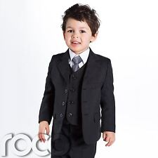 Baby Boys Black Suit, Page Boy Suits, baby boys Wedding suit, 1 - 14 years