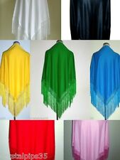 New Fabulous Spanish Flamenco Dance Shawl With Fringe Large - Choice of Colours