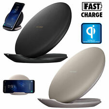 Qi Wireless Fast Charger Charging Stand Dock Pad for Samsung Galaxy S7 S8 Note 8