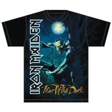 Iron Maiden T Shirt Fear of The Dark Tree Sprite Official Black Mens Rock Merch