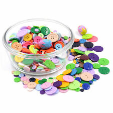 9-25mm Colorful Round Resin Flat Button 2 Holes Clothes Sewing Scrapbooking DIY