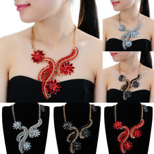 Fashion Jewelry Chain Crystal Acrylic Collar Statement Pendant Bib Necklace