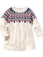 NWT Old Navy Girls Fair Isle Sweater Dress 0-3 3-6 6-12 12-18 Months $25