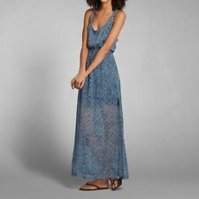 ABERCROMBIE & FITCH WOMEN'S FLORAL MAXI DRESS NWT SIZE LARGE