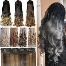 Real Thick One Piece Clip in Full Head Hair Extensions Extension Human Hair LC5