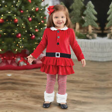 2PCS Toddler Baby Girls Christmas Outfits dress tops+pants Kids Clothes set