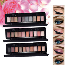 WATERPROOF Shimmer Matte Eyeshadow Palette Eye Shadow Makeup Powder 10 COLORS